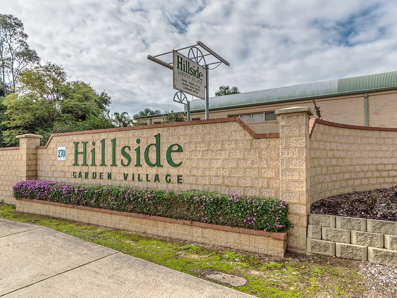 Hillside Garden Village - Front Sign